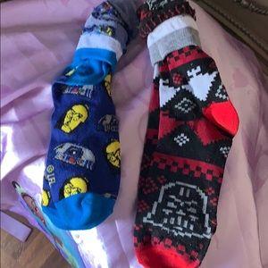 NWOT two pair of Star Wars novelty socks